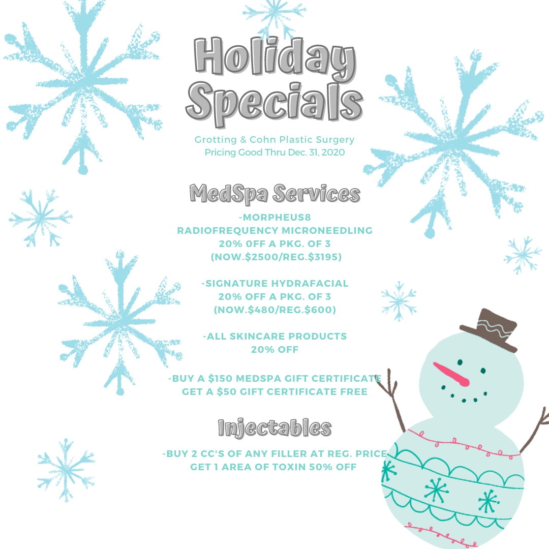 Holiday Specials for Cohn Plastic Surgery